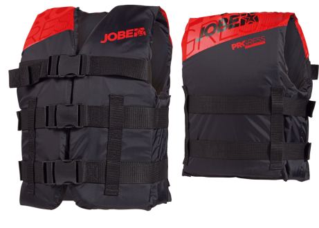 PROGRESS NYLON VEST YOUTH – ISO APPROVED RED