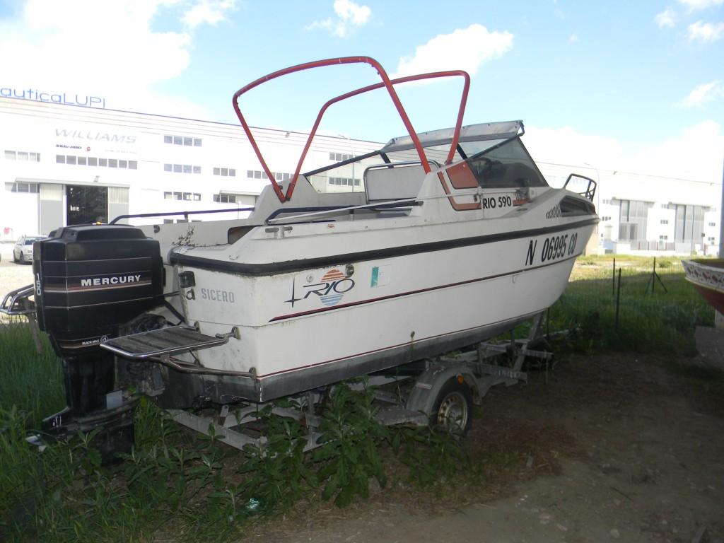 Barca con cabina mod. RIO 5.90 m e motore Mercury 150 Hp
